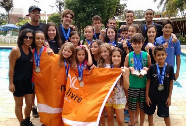 Equipe Nado Livre faz bonito na 5ª fase da 8ª Copa MG de Natação