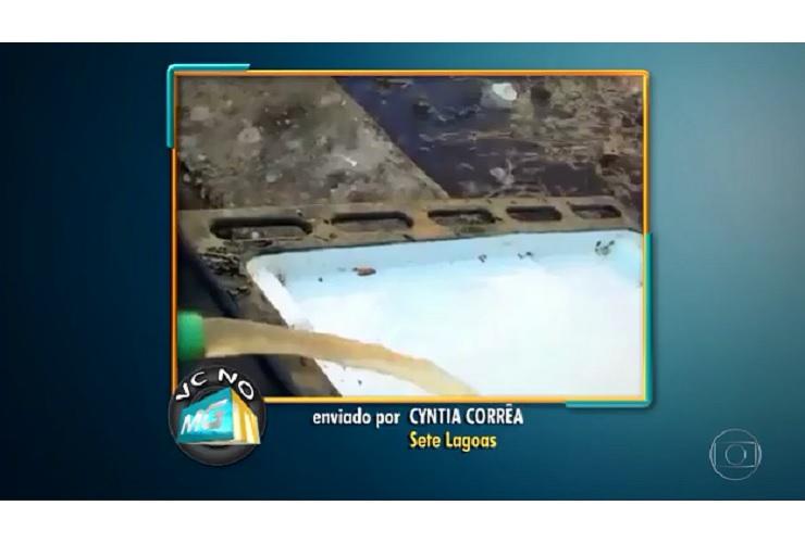 Moradora de Sete Lagoas denuncia que água chega suja às torneiras