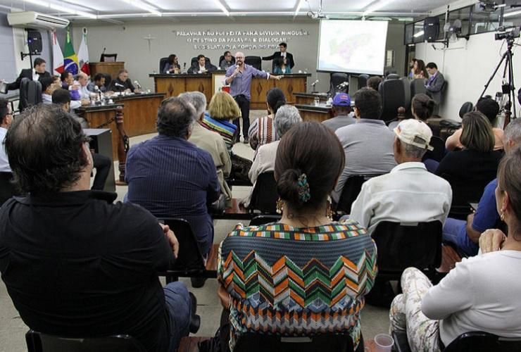 Estudo sobre APA do paiol é apresentado e gera discussão em Audiência na Câmara