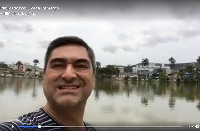Apresentador Zeca Camargo volta a gravar em Sete Lagoas