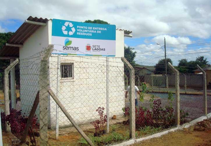 Região leste de Sete Lagoas ganha Ponto de Entrega Voluntária de Resíduos