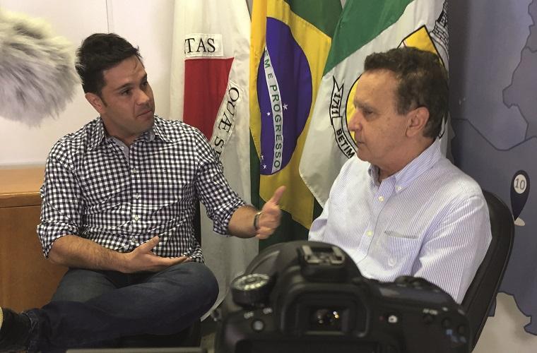 Juninho Sinonô já entrevistou o empresário e prefeito de Betim Vittorio Medioli