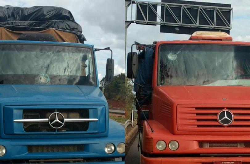 Menores são detidos após lançar pedras contra caminhões na BR-040, em Paraopeba