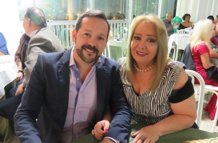 Secretário de Meio Ambiente, Nadab Abelin, e Dinajara Meireles Estanislau Abelin