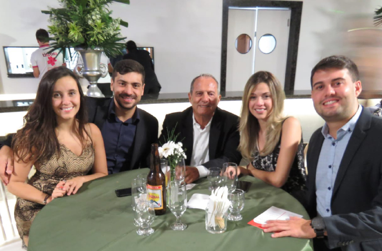 Presidente do Bela Vista Social, Marcos Dias Machado, e seus convidados