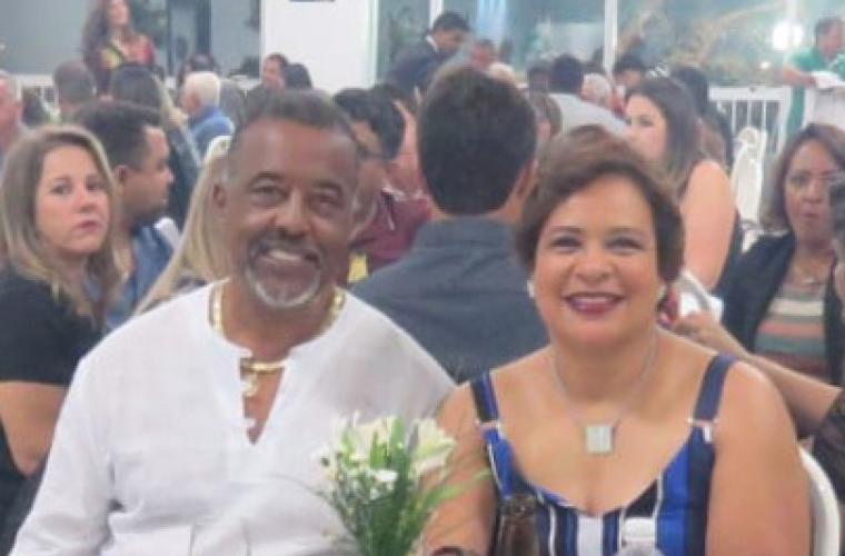 Presidente do Bela Vista FC, Neca e sua esposa Josaine
