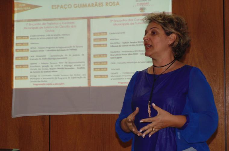 Mariela França, vice-presidente do Circuito Turístico das Grutas