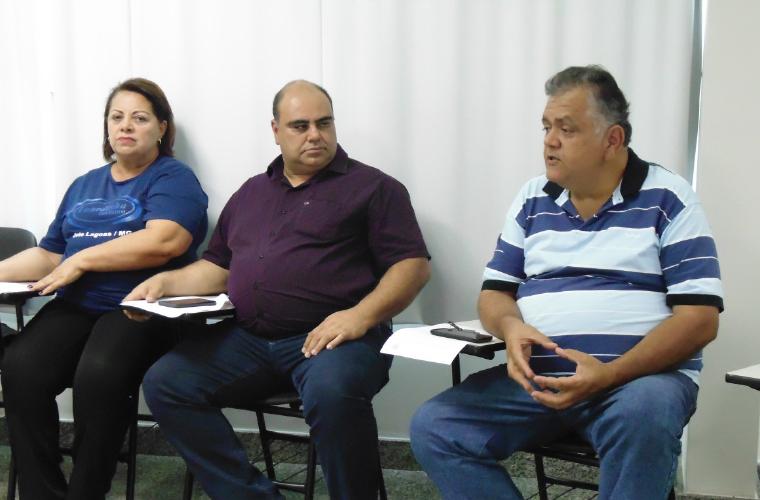 Maria de Lourdes Pinto, Geraldir Alves, presidente da CDL, e o empresário José Carlos, representante do Grupo UAI – Hotéis e Pousadas de Sete Lagoas e Região