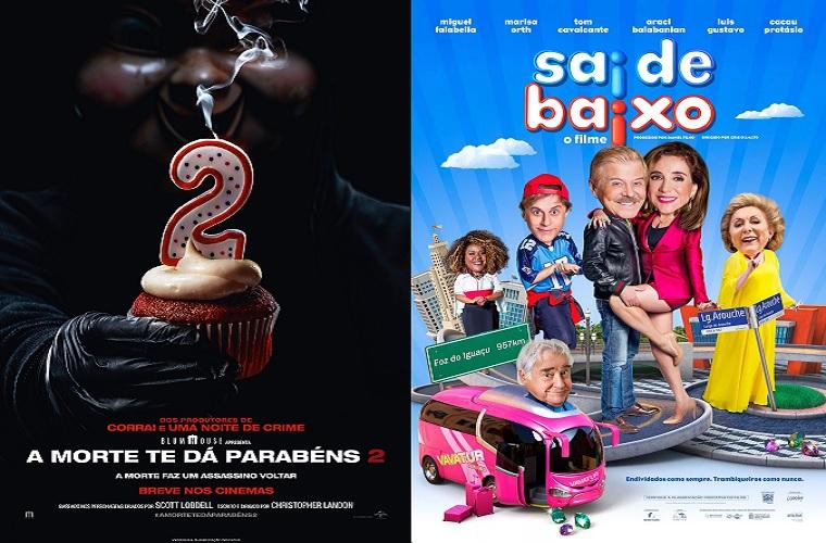 A Morte Te Dá Parabéns 2 e Sai de Baixo são as estreias da semana no Grupo Cine