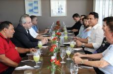 Políticos e empresários de SL cobram dívida do Estado em almoço com secretário Otto Levy Reis