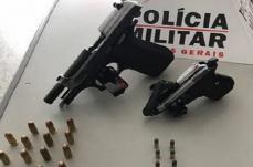 Polícia de Sete Lagoas apreende armas de fogo e munições no bairro Jardim Europa