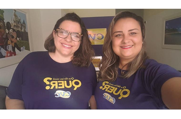 Júlia Rodrigues e Viviane Campos da Agência CVC de Sete Lagoas