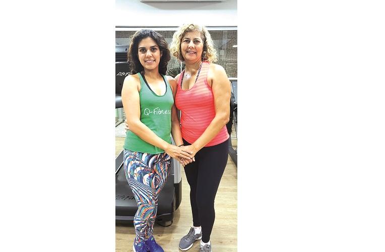 Rosinei e sua filha Mariana, alunas Premium