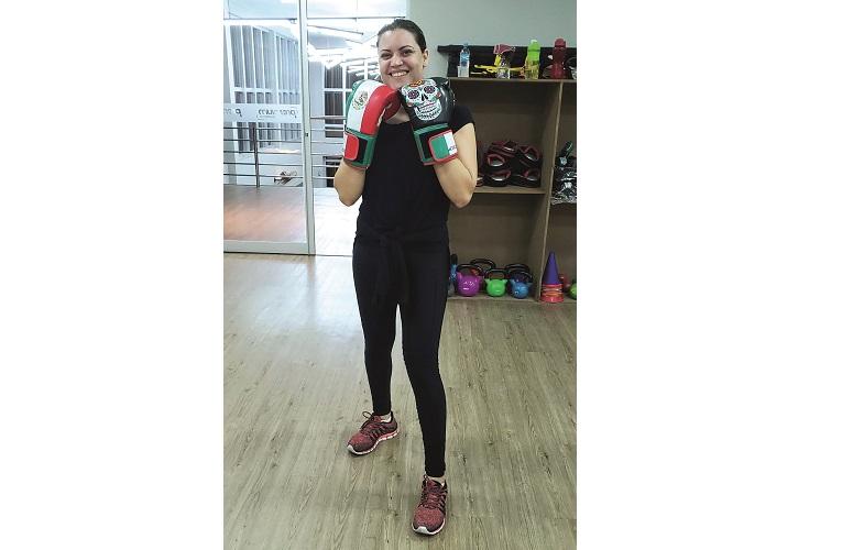 Fernanda, mamãe boxeadora