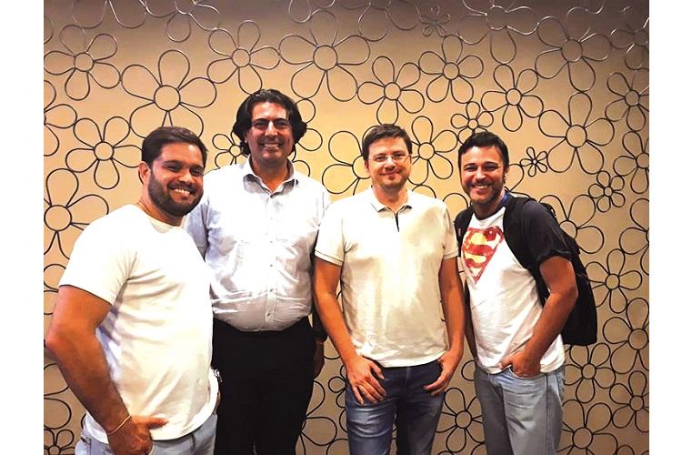 Colunistas Juninho Sinonô, Jean Karllo, Sebastian Kummer e o jornalista do Sete Dias Marcelo Sander