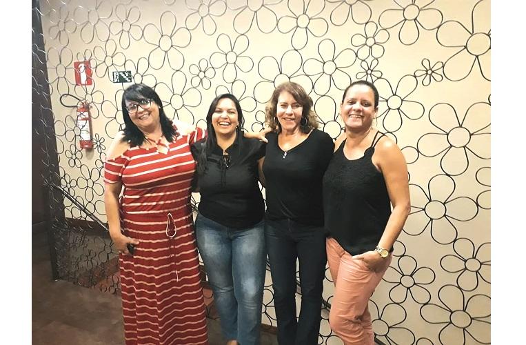 Equipe interna do Jornal Sete Dias: Eliana Marques, Daniele Cristina, Berenice Campolina e Daniele Nascimento