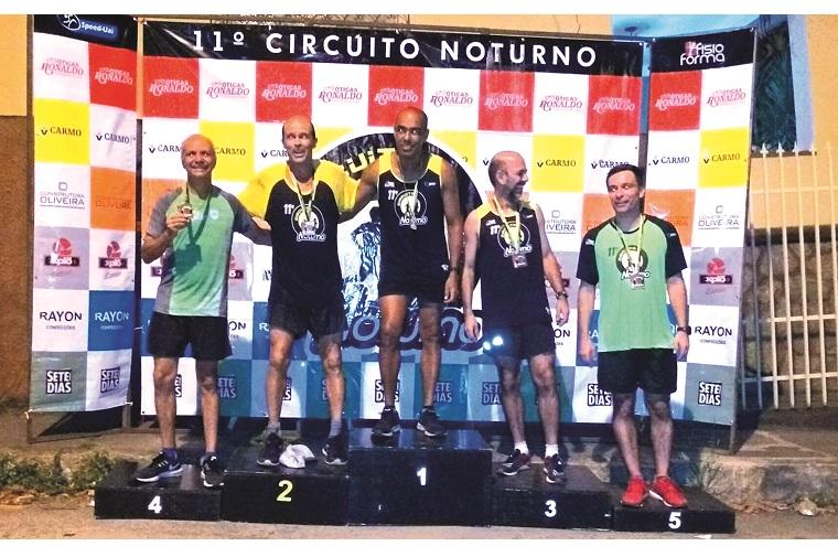 Pódio Masculino Geral: Rodrigo, Geraldo Lopes, Alexandre Darlei (Lider), Anderson Latini, Tiago Librelon