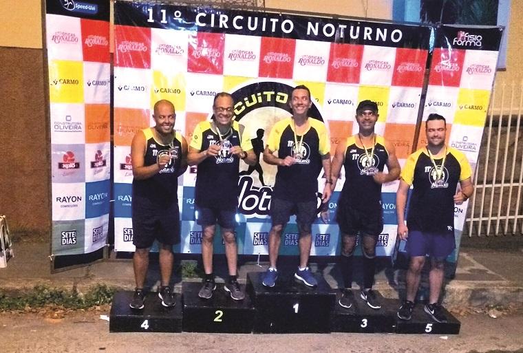 Pódio Speed-Uai masculino: Cristiano Ferreira, Wagner Izabel, Markson Borba, Breno Vinicius, Pablo Teixeira