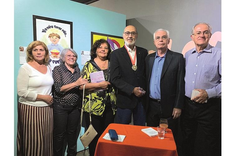 Márcio Vicente entre os irmãos Arlete, Jeanete, Elizabete, Acácio e João Candido