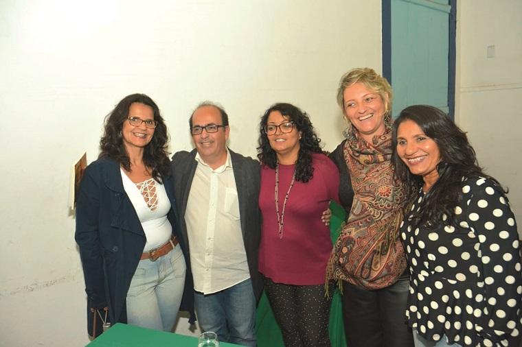 Maria Honorina, Caio Pacheco, Cláudia Elane, Mariela França e Cláudia Leocádio