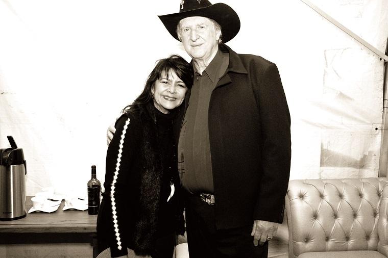 Sandra Braga com Sérgio Reis