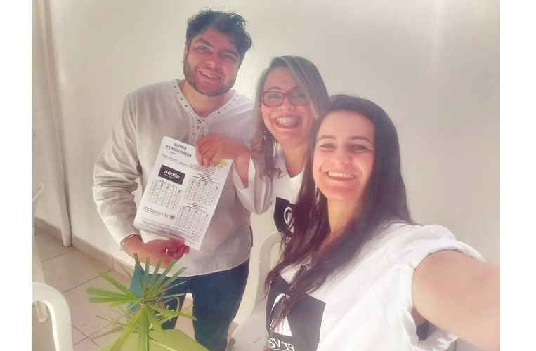 Roberto, Renata e Carine, da Esmalteria Carine Melgaço