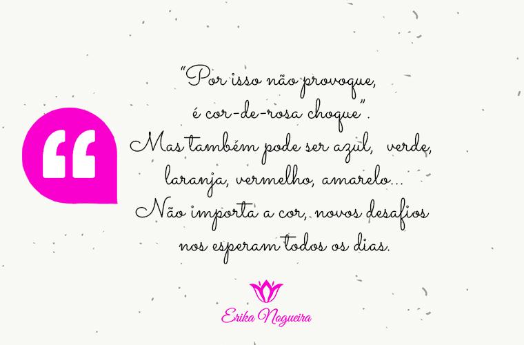 ARTIGO: Érika Nogueira - É cor-de-rosa choque?