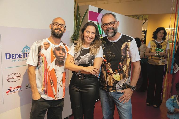 Os fundadores do coletivo: Leandro Malaquias, Renata Ataíde e Leo Drummond