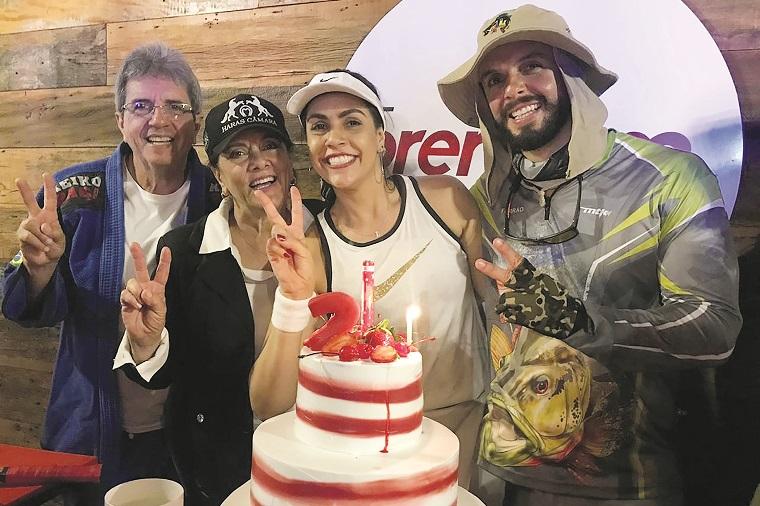 Toninho, Heloíse, Lívia e Guilherme