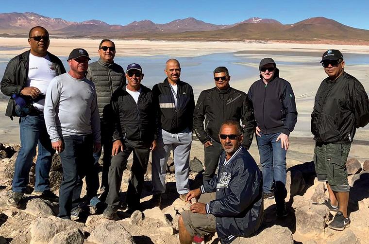 A aventura de oito integrantes do Cachorrão Moto Grupo de SL até o Deserto do Atacama