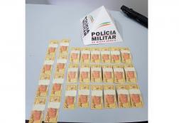 Em Fortuna de Minas, muito dinheiro falso é apreendido
