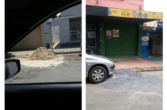 Resto de obras na rua