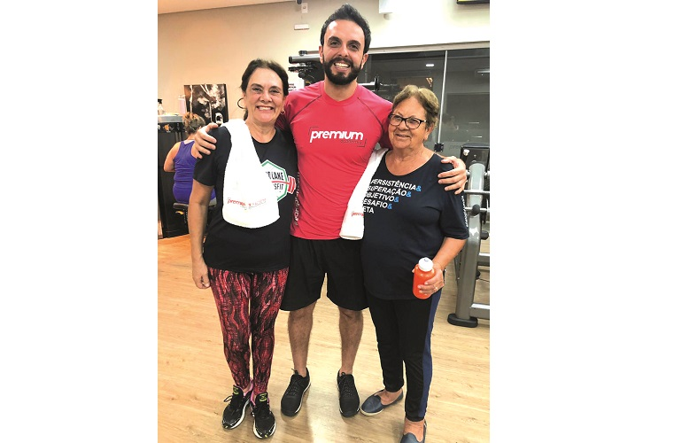Eloise Ferrão (mãe), Guilherme Ferrão e Dona Lola Ferrão (avó)