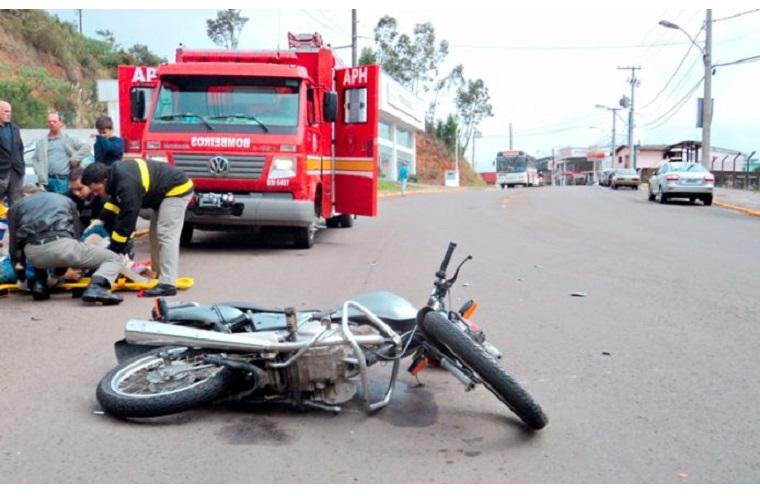 A maioria dos acidentes é com motociclistas