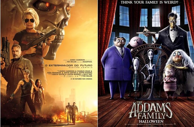 Exterminador do Futuro e Família Addams são as estreias da semana no Grupo Cine