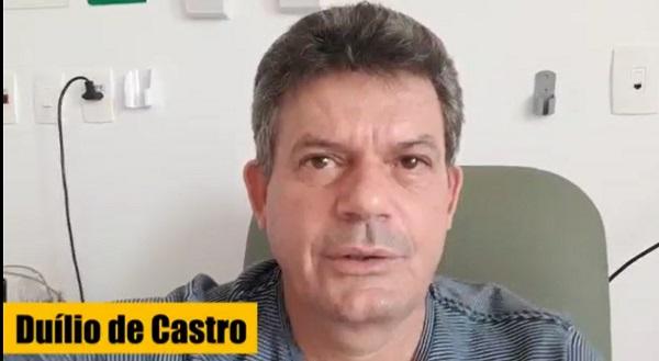Prefeito Duílio de Castro revela que foi tratado com cloroquina e azitromicina
