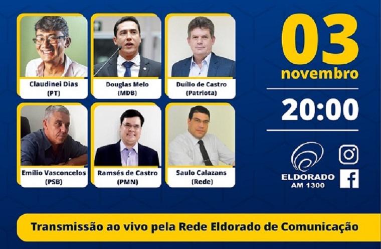 Eleição – Na próxima terça-feira (3) tem debate entre os candidatos a prefeito